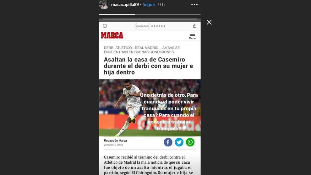 Historia de Macarena, mujer de Lucas Vázquez, en Instagram tras la...