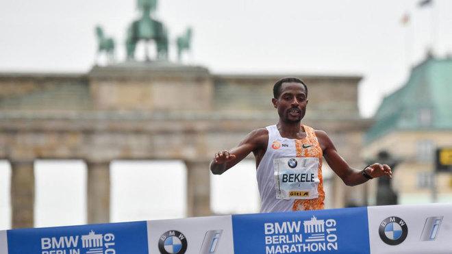 Kenenisa Bekele, ganador del Martatón de Berlín 2019.