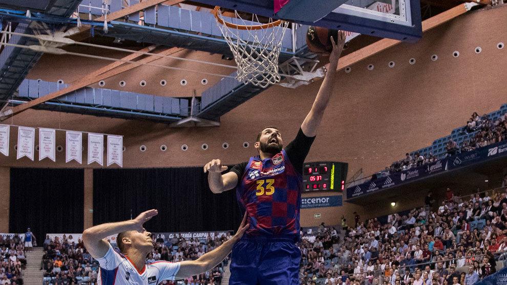 Mirotic, en su primer partido ACB con el Barcelona