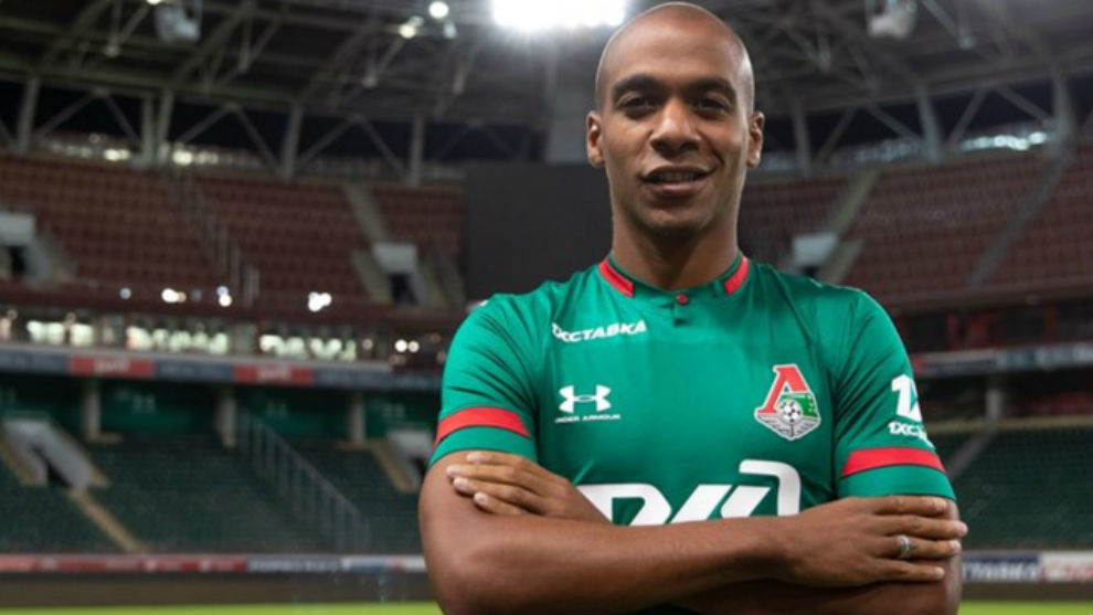 Joao Mário (26) en su presentación con el Lokomotiv.