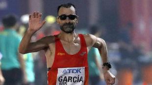 García Bragado, acabando su participación en los 50 kilómetros...