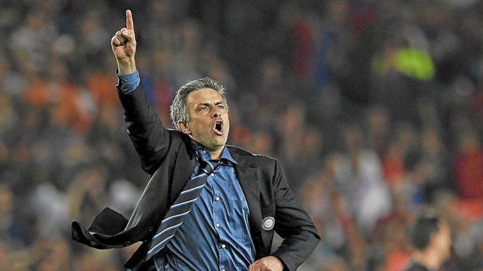 Mourinho, tras eliminar el Barça en la Champions de 2010