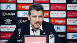 Juan Carlos Unzué, entrenador del Girona FC.