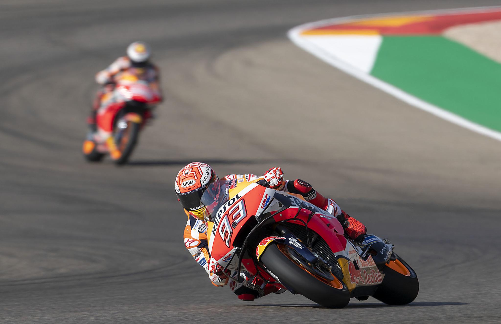 Marc Márquez protagonizó una espectacular caída en el MotoGP de Tailandia