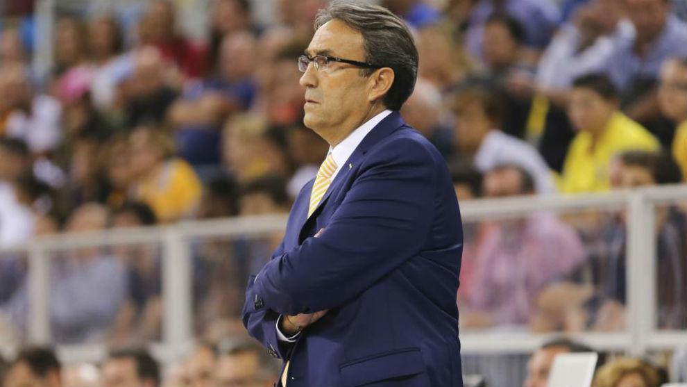 Luis Casimiro, entrenador del Unicaja, en una imagen de archivo.