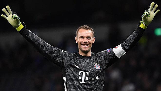 Manuel Neuer, en la goleada del Bayern ante el Tottenham.
