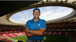 Sergio García en el Wanda Metropolitano.