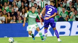 Guardado, en una acción del Betis-Leganés.