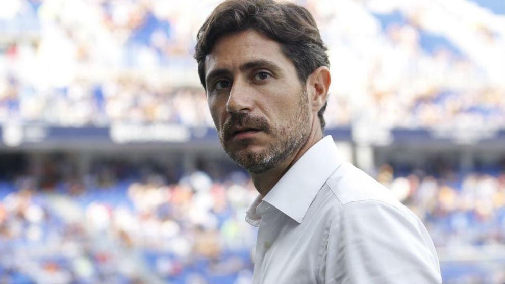 Víctor, durante un partido esta temporada.