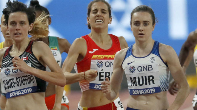 Marta Pérez, en carrera