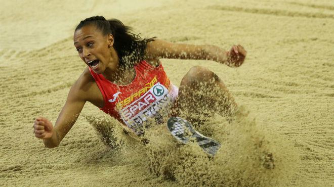 Ana Peleteiro, durante un concurso