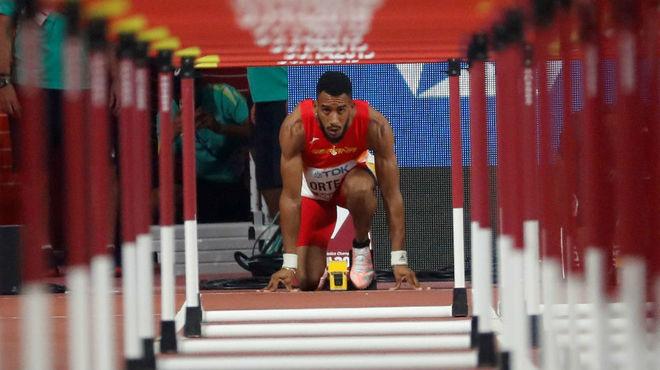 Orlando Ortega, en la salida de la prueba