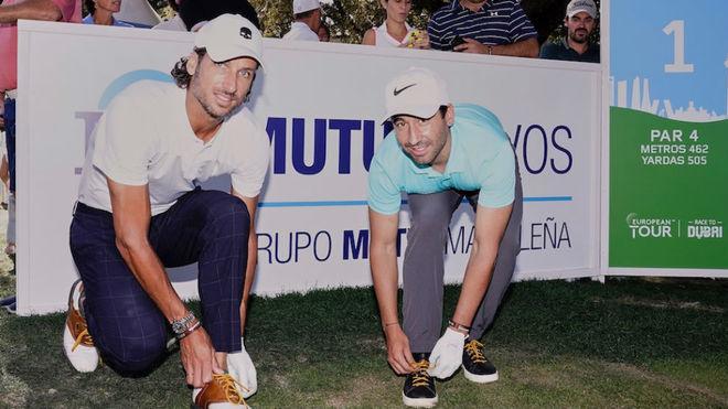 Los tenistas Feliciano y Marc López se enfundan los cordones dorados...