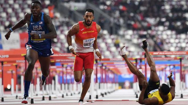 Orlando Ortega y McLeod, en la final de los 110 metros vallas
