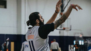 Ricky Rubio en su primer entrenamiento con los Phoenix Suns