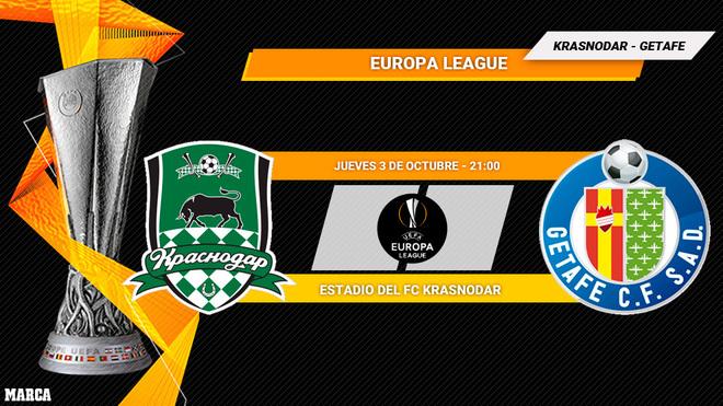 Krasnodar - Getafe: horario y dónde ver en TV el partido de Europa...