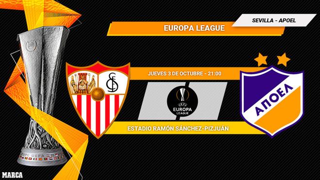 Sevilla - APOEL: horario y dónde ver en TV el partido de Europa...