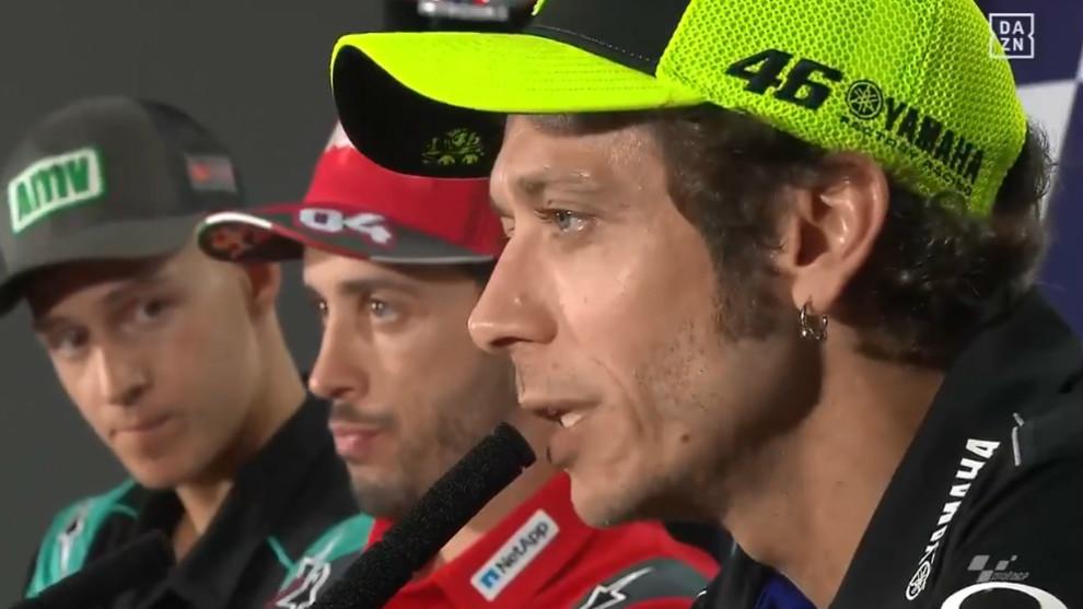Rossi, durante la rueda de prensa de hoy.