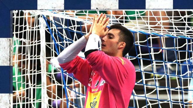 Xoan Ledo, uno de los porteros convocados para disputar el Torneo...