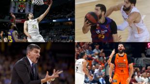 Real Madrid, Barcelona, Baskonia y Valencia son los representantes...