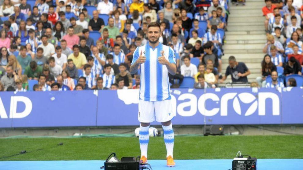 Portu, durante su presentación con la Real Sociedad.