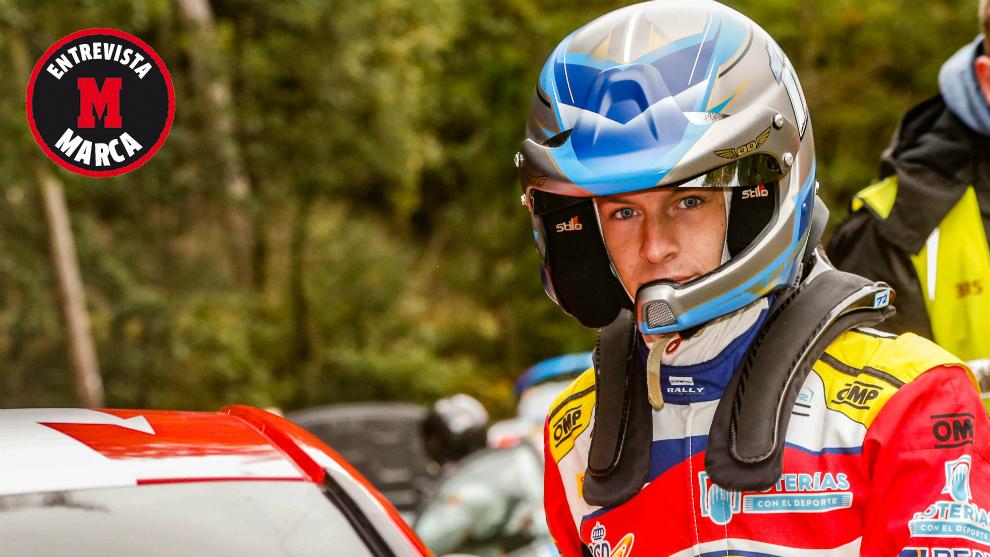 El pupilo del Rally Team Spain, esta mañana, en el 'shakedown' de...