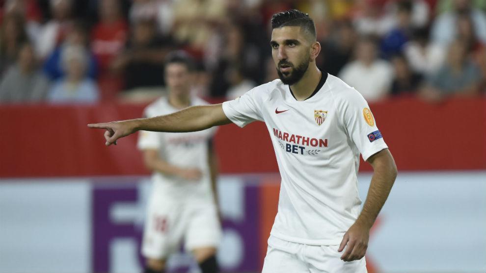 Munas Dabbu (27), en el partido frente al APOEL en el...