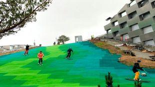 La colina artificial, bautizada en un juego de palabras como Copenhill