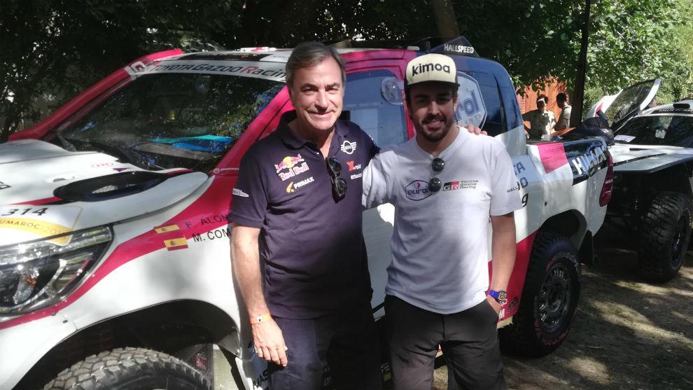 Carlos Sainz y Fernando Alonso.