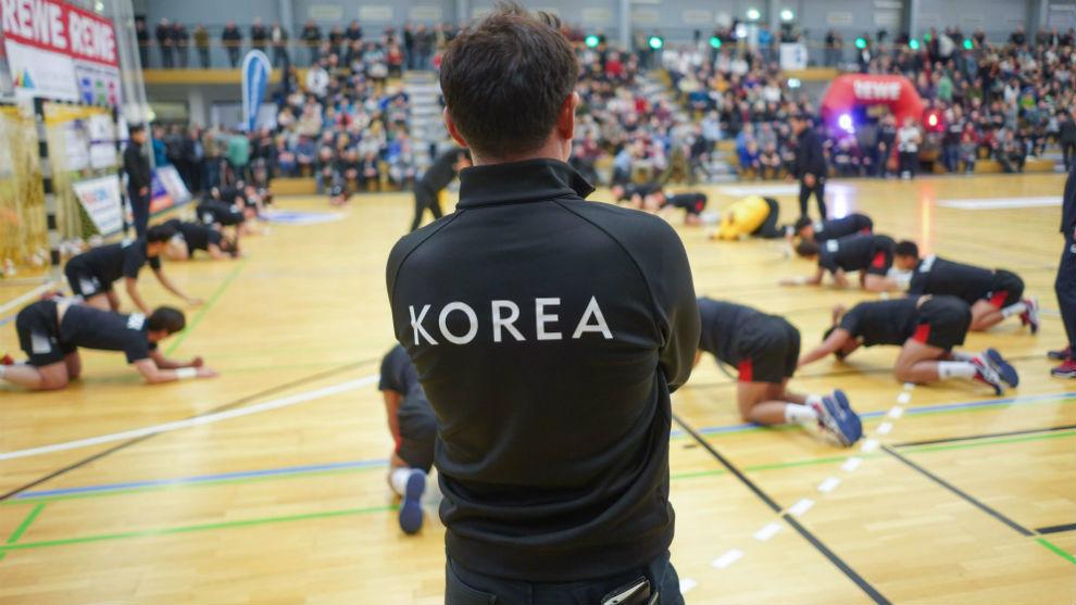 La selección de Corea del Sur, en un partido amistoso en Alemania