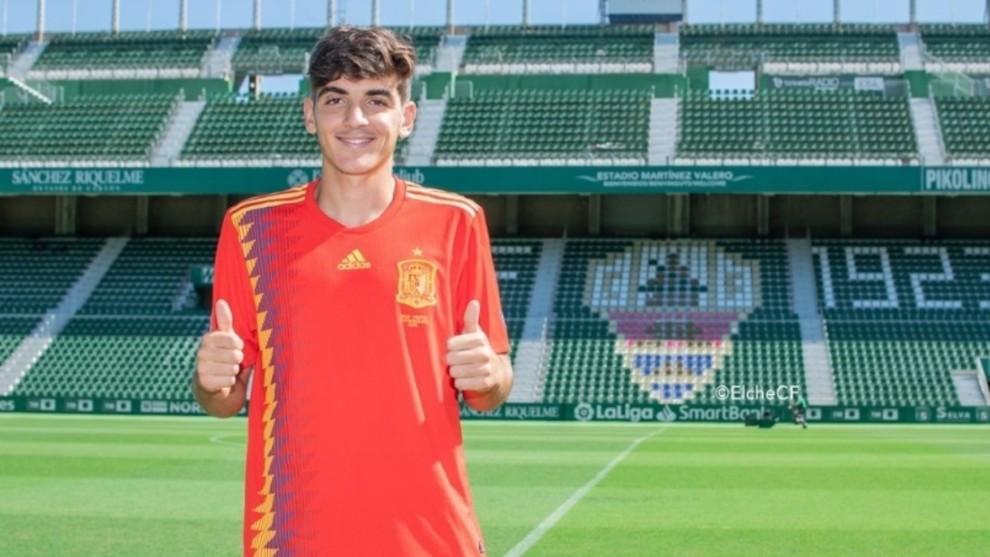 Gonzalo Villar tras su convocvatoria por España Sub21