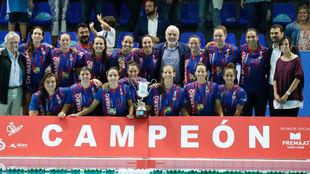 EL CN Mataró, reciente ganador de la Supercopa de España.