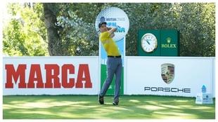 Ross Fisher, durante la segunda vuelta del Mutuactivos Open de España