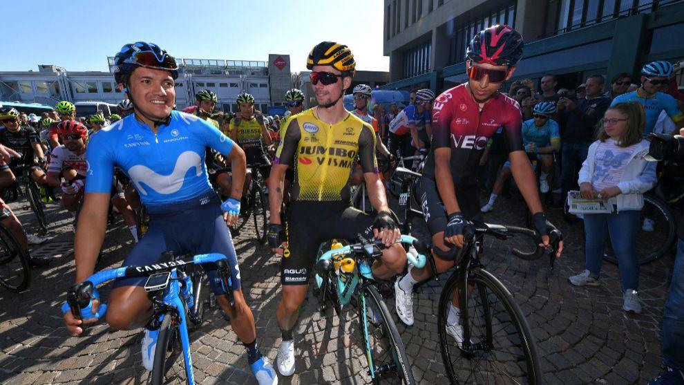 Los vencedores de las tres Grandes Vueltas de 2019, antes de la...