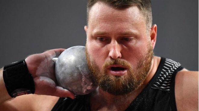 El neozelandés Tomas Walsh, en la prueba de peso