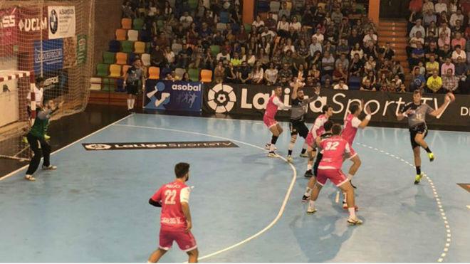 Un momento del partido entre el Ciudad Encantada y el Cangas /