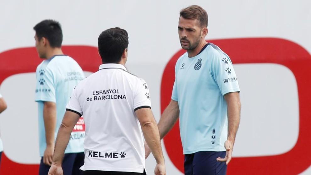 Víctor Sánchez, durante una sesión