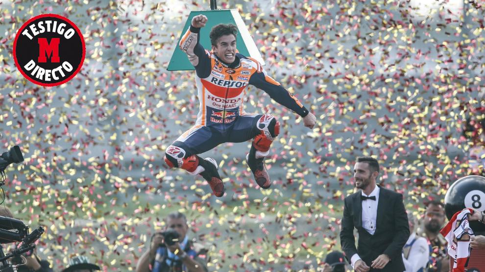 Marc Marquez celebra su octavo Mundial.