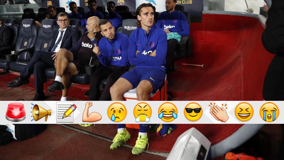 Griezmann, en el banquillo contra el Sevilla
