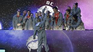 Los componentes del equipos estadounidense DC Trident