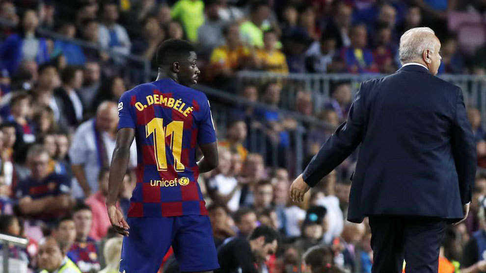 Dembele saw red against Sevilla