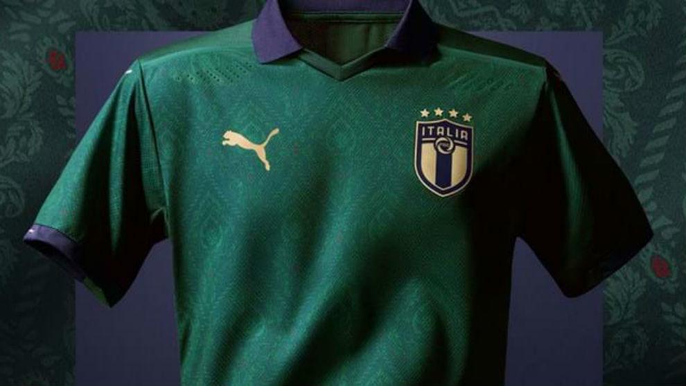 La nueva camiseta de Italia verde, de PUMA.