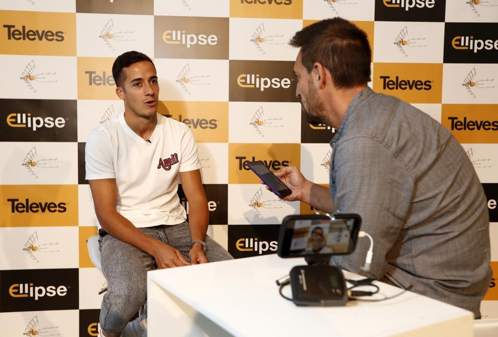 Lucas during his interview.
