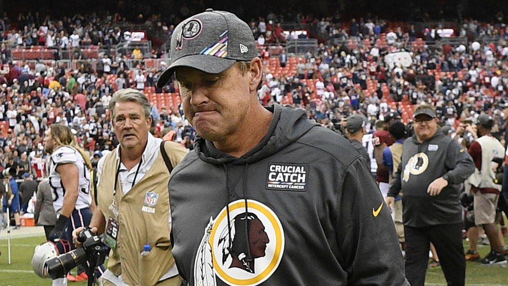 Brady e invictos Pats vapulean a Redskins