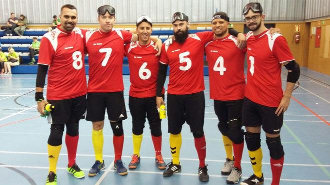 El equipo español de goalball.