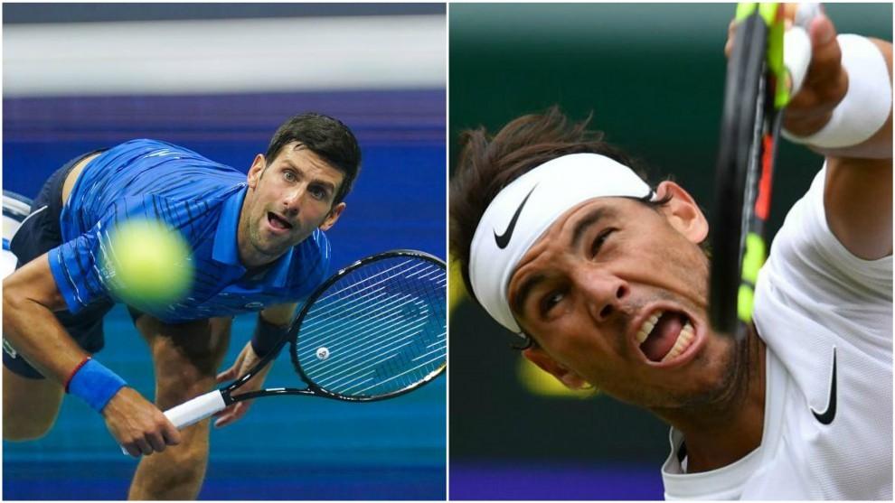 Djokovic y Nadal, al saque