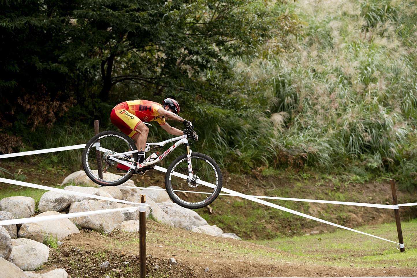 Carlos Coloma, en el test olímpico.