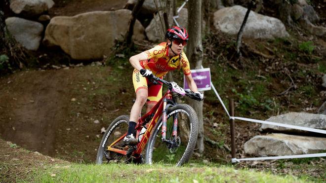 Rocío del Alba García, durante el test olímpico.