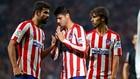 Morata, Joao Félix y Diego Costa en un entrenamiento