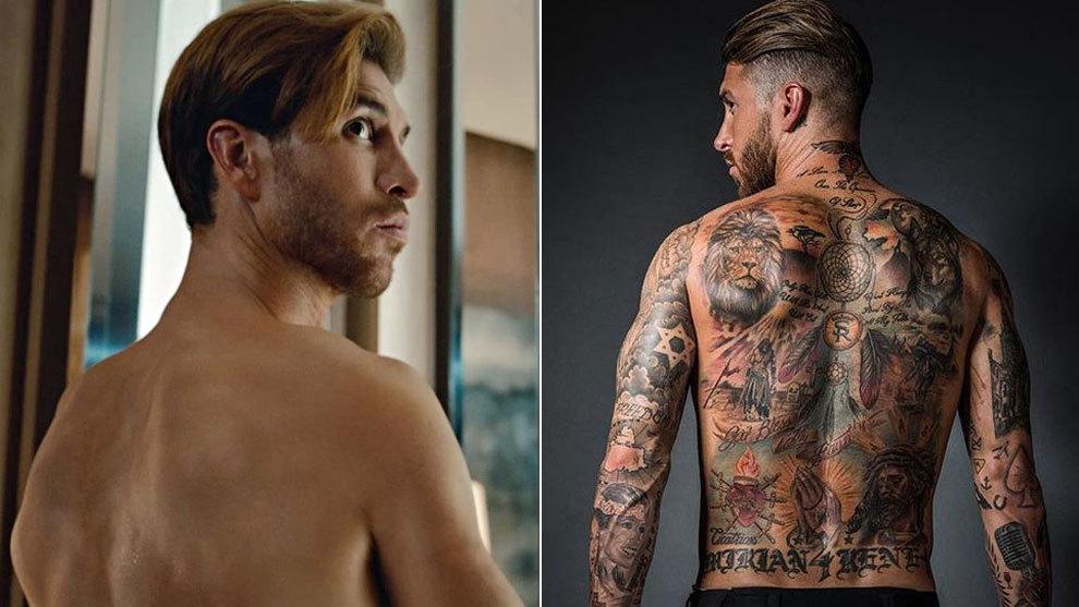 Sergio Ramos y su sorprendente 'cambio' de piel en la espalda